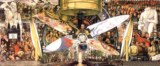 멕시코 벽화 운동의 거장  디에고 리베라의 <십자로의 남자>, 1934, 프레스코, 멕시코 시티, 예술 궁전
