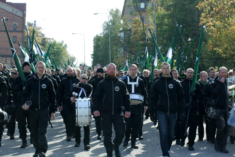 스웨덴 파시스트의 거리 행진