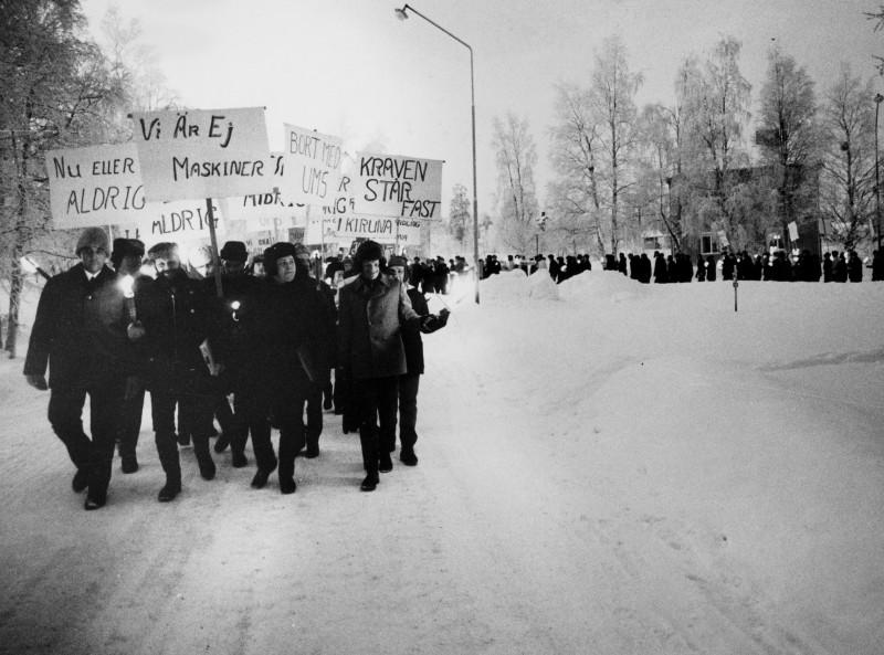 1971년 파업 중인 광산노동자들