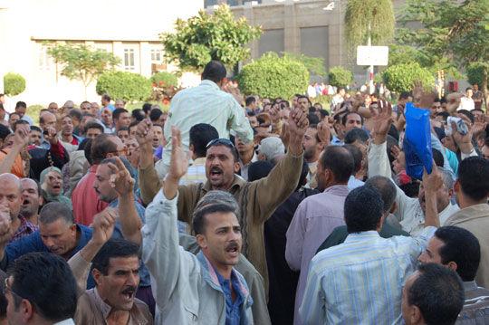 중동 연속혁명의 축, 이집트 노동자 투쟁