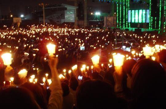 5월 24일 열린 1만인 대회 '우리는 인하다'