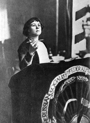러시아 혁명가 알렉산드라 콜론타이.